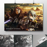 Desk Mat A3 Size Sword Art Online II (SAO 2) Kirito and Sinon by Slaps [IN STOCK]