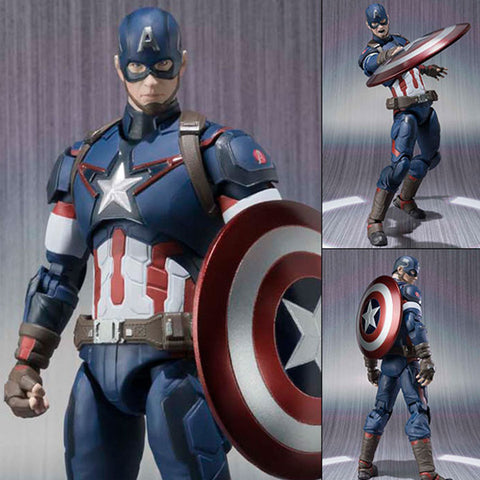 S.H.Figuarts Captain America from Avengers 2 Age of Ultron Marvel Bandai Tamashii [SOLD OUT]