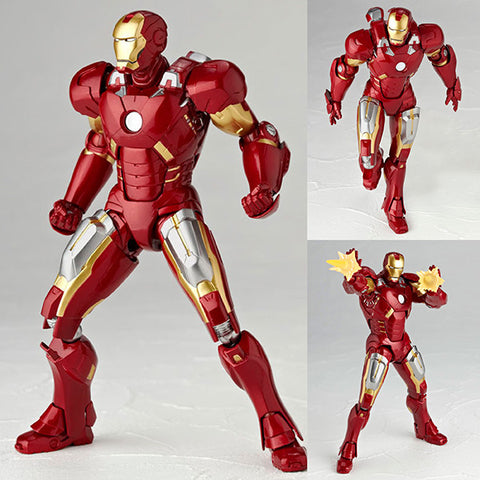 Legacy of Revoltech LR-041 Iron Man Mk VII (Mark 7) Marvel Kaiyodo [SOLD OUT]