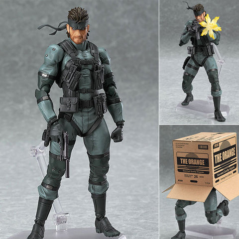 Figma 243 Solid Snake MGS2 Ver. from Metal Gear Solid 2 Sons of Liberty Max Factory [W/ Damaged Box] [SOLD OUT]