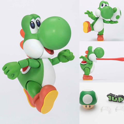 S.H.Figuarts Yoshi from Super Mario + 1st Release Bonus Nintendo Bandai Tamashii [SOLD OUT]