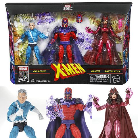 Marvel Legends 6 Inch Series X-Men: Family Matters 3-Pack (Magneto, Quicksilver and Scarlet Witch) [IN STOCK]
