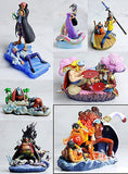 PVC Trading Figure One Piece Log Box Marineford Part 2 Complete Set of 6 + 1 Special Figure Megahouse [SOLD OUT]