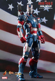 Hot Toys 1/6 Iron Patriot Diecast Action Figure from Iron Man 3 Movie Masterpiece [IN STOCK]