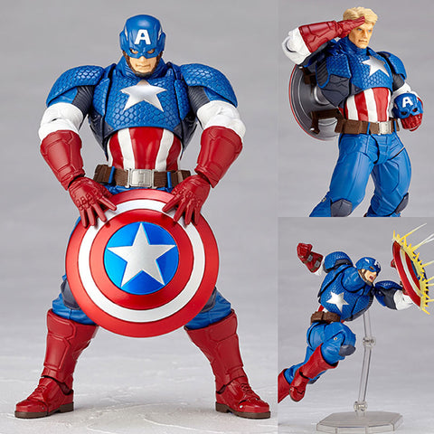 Revoltech Amazing Yamaguchi 007 Captain America from Marvel Comics [IN STOCK]