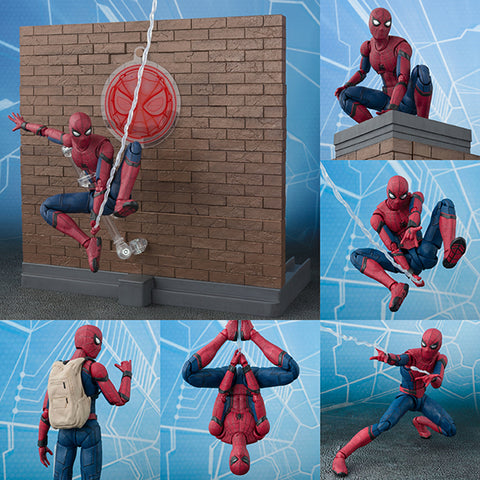 S.H.Figuarts Spider-Man Homecoming + Tamashii Option Act Wall Set from Spider-Man Homecoming Marvel [SOLD OUT]