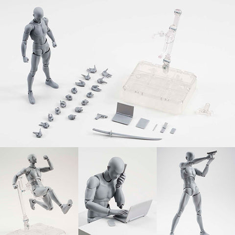 S.H.Figuarts Body-kun DX Set Gray Color Ver. Action Figure (Re-release) [SOLD OUT]