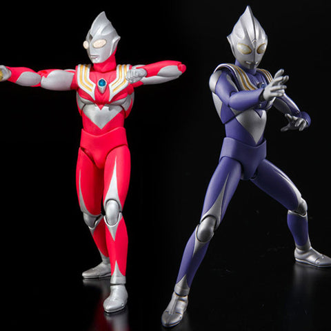 Ultra-Act Ultraman Tiga Power Type + Sky Type Set Anime Figure Bandai [PRE-OWNED] [SOLD OUT]