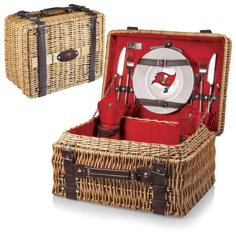 Tampa Bay Buccaneers Picnic Basket With Service For 2