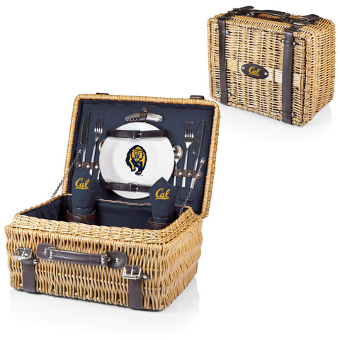 Berkeley Golden Bears Picnic Basket With Service For 2