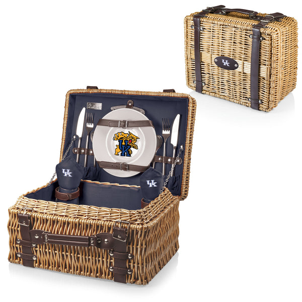 Kentucky Wildcats Picnic Basket With Service For 2