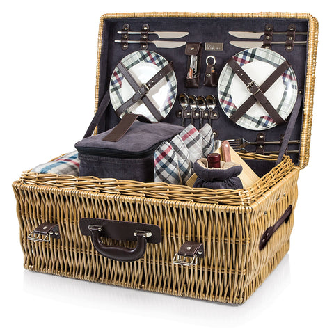 Carnaby St. Picnic Basket With Service for 4