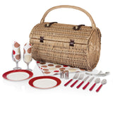 Barrel Picnic Basket With Service for 2 - Moka Collection