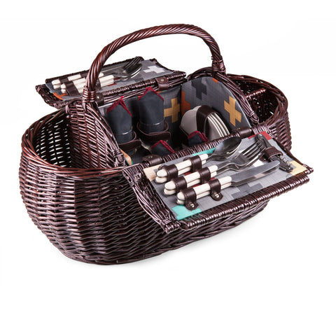 Gondola Picnic Basket With Service For 4- Pixels