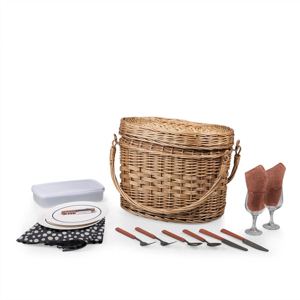 Romance Picnic Basket With Service for 2 - Adeline Collection