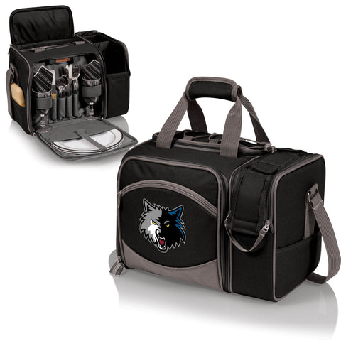 MINNESOTA TIMBERWOLVES Picnic Pack With Service for 2 -Malibu by Picnic Time