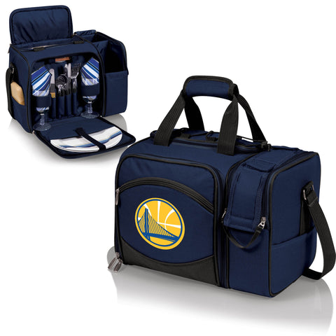Golden State Warriors Picnic Pack With Service for 2 -Malibu by Picnic Time