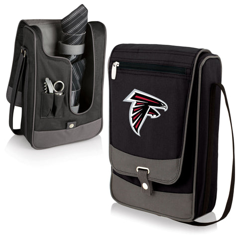 Atlanta Falcons Insulated Single Bottle Wine Tote with Service for Two- Barossa