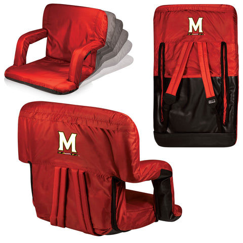 Maryland Terrapins Stadium Seat / Beach Chair - Ventura By Picnic Time