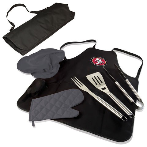 San Francisco 49ers BBQ Apron Tote  - by Picnic Time