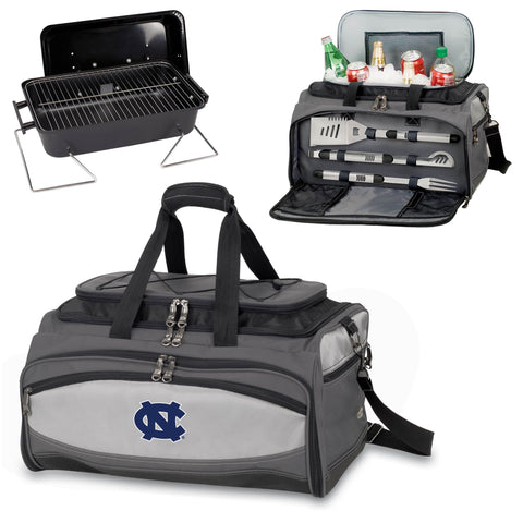 North Carolina Tar Heels Tailgating BBQ Tote With Grill, Cooler, BBQ Tools -Buccaneer by Picnic Time