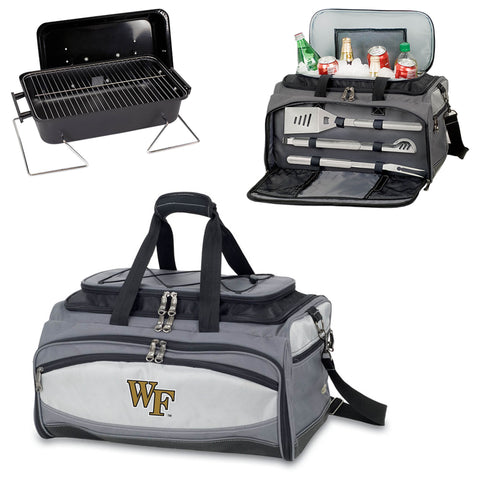 Wake Forest Demon Deacons Tailgating BBQ Tote With Grill, Cooler, BBQ Tools -Buccaneer by Picnic Time