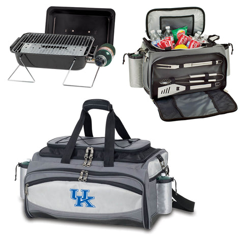 Kentucky Wildcats Tailgating BBQ Tote With Gas Grill, Cooler, BBQ Tools -Vulcan by Picnic Time