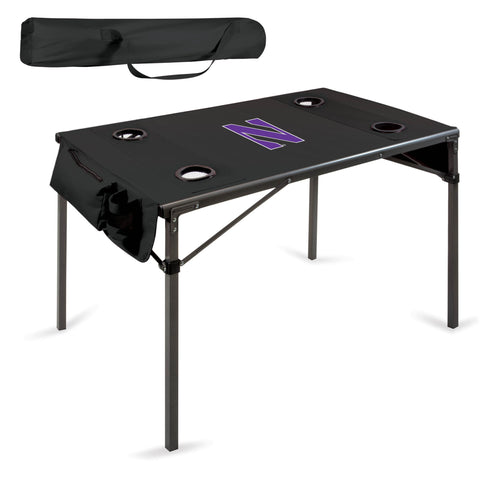Northwestern Wildcats Travel Table - by Picnic Time