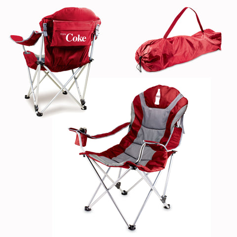 Coca-Cola Reclining Camp Chair by Picnic Time