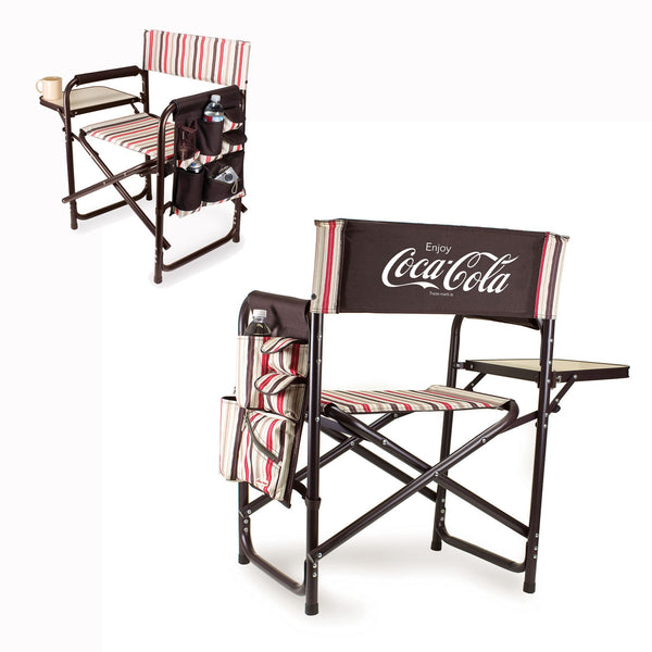 Coca-Cola Sports Chair With Fold Out Table by Picnic Time