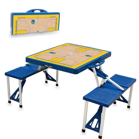 Golden State Warriors Folding Picnic Table - by Picnic Time