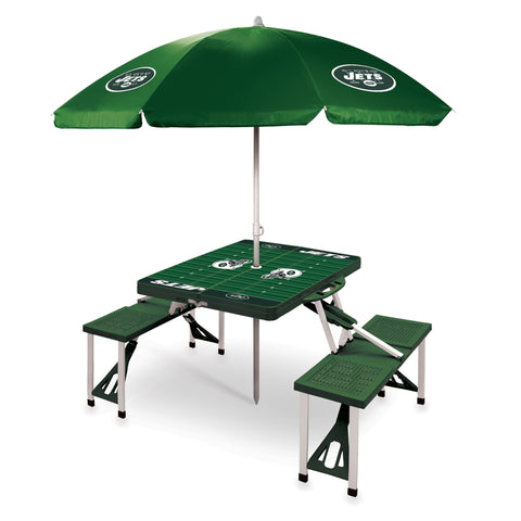 New York Jets Picnic Table With Umbrella
