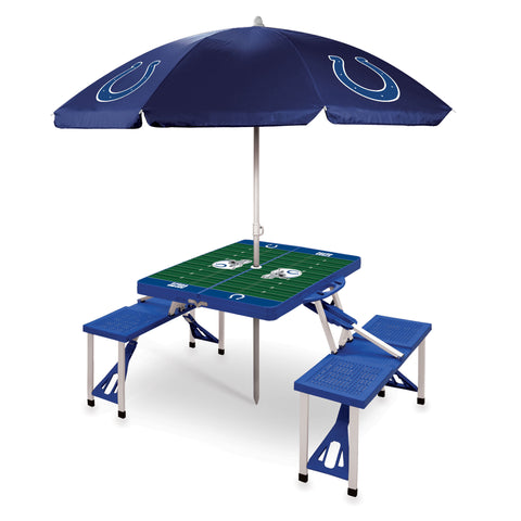 Indianapolis Colts Picnic Table With Umbrella