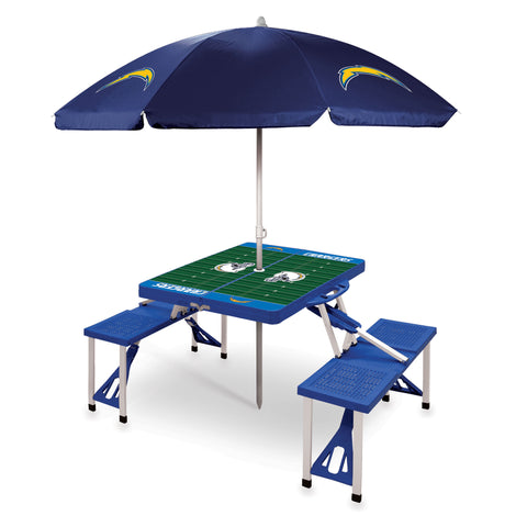 San Diego Chargers Picnic Table With Umbrella