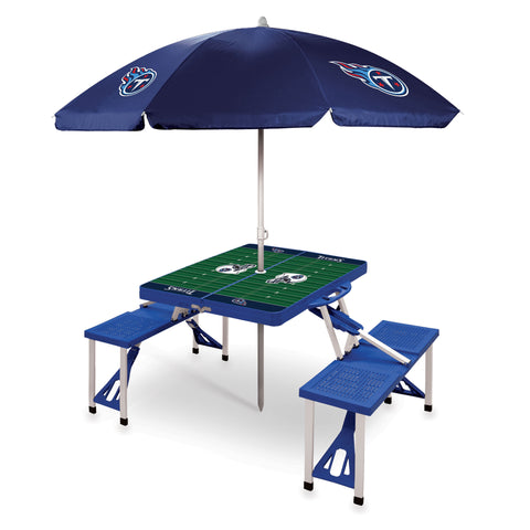 Tennessee Titans Picnic Table With Umbrella