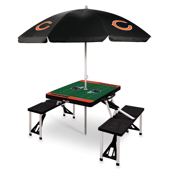 Chicago Bears Picnic Table With Umbrella