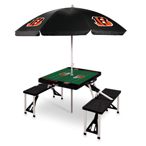 Cincinnati Bengals Picnic Table With Umbrella