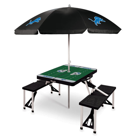 Detroit Lions Picnic Table With Umbrella