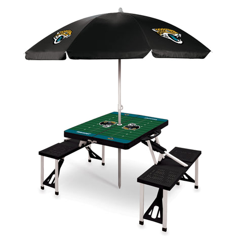 Jacksonville Jaguars Picnic Table With Umbrella