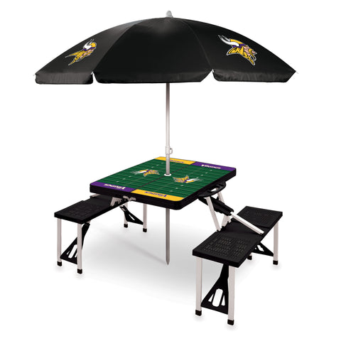 Minnesota Vikings Picnic Table With Umbrella