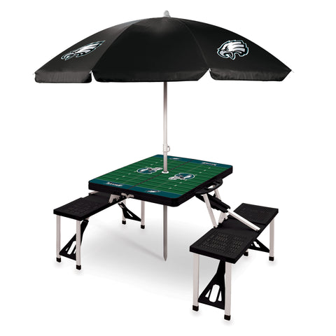 Philadelphia Eagles Picnic Table With Umbrella