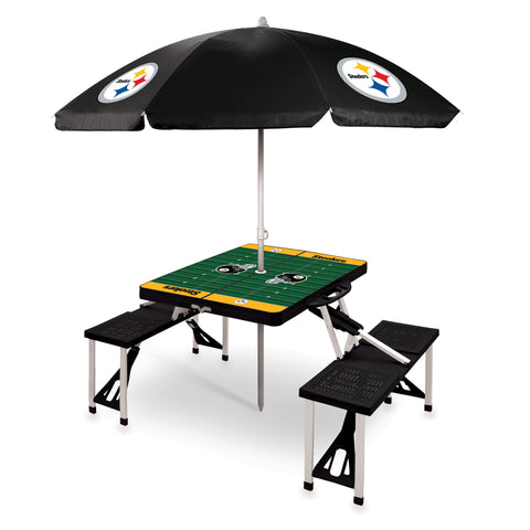 Pittsburgh Steelers Picnic Table With Umbrella