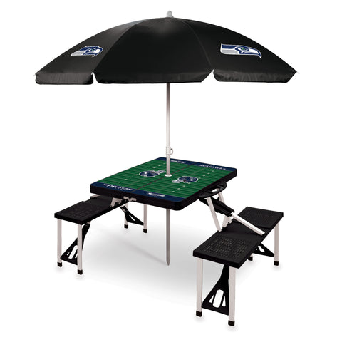 Seattle Seahawks Picnic Table With Umbrella