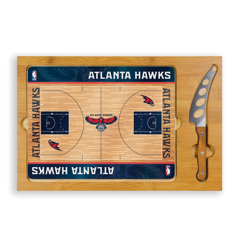 Atlanta Hawks Cheese Board / Servicing Tray with Cheese Knife - Icon by Picnic Time