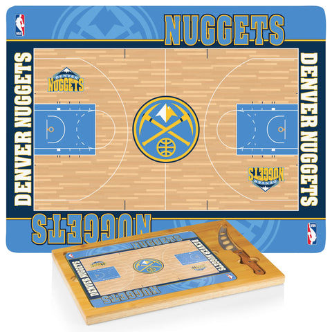 Denver Nuggets Cheese Board / Servicing Tray with Cheese Knife - Icon by Picnic Time