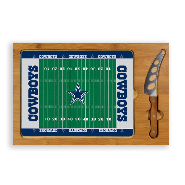 Dallas Cowboys Cheese Board / Servicing Tray with Cheese Knife - Icon by Picnic Time