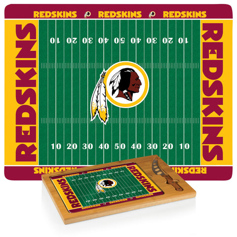 Washington Redskins Cheese Board / Servicing Tray with Cheese Knife - Icon by Picnic Time