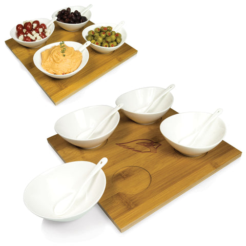 Arizona Cardinals Servicing Tray and Bowl Set- Quad