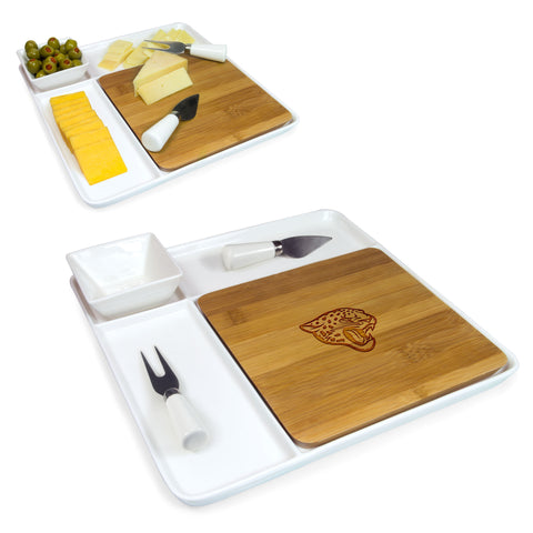 Jacksonville Jaguars Cutting Broad and Servicing Tray Set- Peninsula