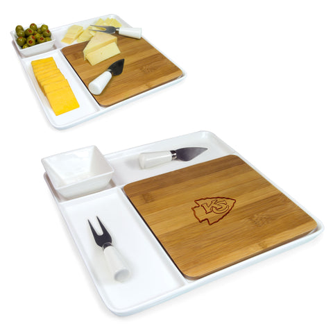Kansas City Chiefs Cutting Broad and Servicing Tray Set- Peninsula